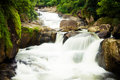 Waterfall small in thailand nature in thailand Royalty Free Stock Images