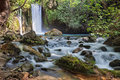 Waterfall stream banias river hermon nature reserve in the north of israel Royalty Free Stock Photography