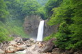 Waterfall in summer Royalty Free Stock Photo