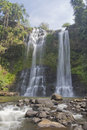 Waterfall tad yueang the great in laos Royalty Free Stock Photography