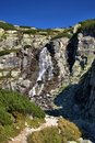 Waterfall in the tatra mountains Stock Image