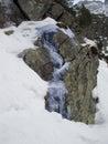 Waterfall in tatras mountain hight tatra mountains poland europe on winter Royalty Free Stock Photos