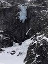Waterfall in tatras mountain hight tatra mountains poland europe on winter Stock Photos