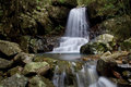 Waterfall terraced a i stumbled upon deep in the forrest that is not seen by many people small but beautiful Stock Photo