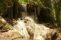 Waterfall thailand arawan kanchanaburi Royalty Free Stock Photo