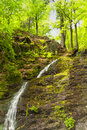 Waterfall in the thuringian forest germany Stock Photos