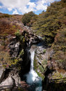 Waterfall in Tongariro National Park Royalty Free Stock Image