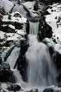 Waterfall in triberg im winter iced the black forest Royalty Free Stock Image