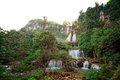 Waterfall in tropical forest, west of Thailand Royalty Free Stock Image