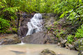 Waterfall in tropical rain forest jungle thailand beautiful nature Stock Photography