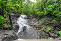 Waterfall in tropical rain forest jungle thailand nature beautiful Stock Images