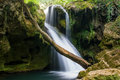 Waterfall vaioaga beusnita valley and nera Stock Image
