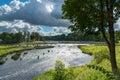 Waterfall Ventas rumba, Kuldiga, Latvia. Royalty Free Stock Photo