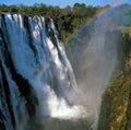 Waterfall victoria rainbow river tree rock africa botswana zambia lake Royalty Free Stock Photos