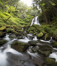 Waterfall And Water Flowing Th...