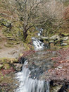 Waterfall in the Welsh Countryside Royalty Free Stock Photo