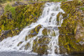 Waterfall - Westfjords, Iceland. Stock Photos