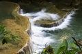 Waterfall white gush leaves and green of hui mae kamin kanchanaburi thailand Royalty Free Stock Photography