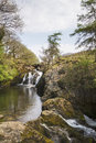 Waterfall in the Yorkshire dales Stock Photos