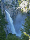 Waterfall in Yosemite National Park Royalty Free Stock Photography