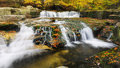 Waterfalls Autumn Wilderness Royalty Free Stock Photo