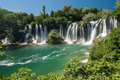 Waterfalls in bosnia and herzegovina the kravica Stock Photography