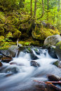 Waterfalls in the columbia river gorge oregon Royalty Free Stock Photo