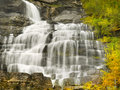 Waterfalls, Falls, Autumn, Norway Royalty Free Stock Photo