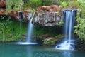 Waterfalls at Fern Pool in Karijini National Park, Australia Royalty Free Stock Photo