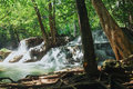 Waterfalls huay mae kamin deep forest in national park thailand Stock Photography