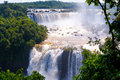 Waterfalls iguassu falls is the largest series of on the planet located in brazil argentina and paraguay Stock Photography
