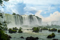 Waterfalls in iguazu massive at brazil Royalty Free Stock Images