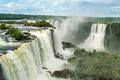 Waterfalls in iguazu massive at brazil Royalty Free Stock Photography