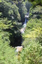 Waterfalls in japan contact with nature breathing fresh air arduous hiking up and down the mountain trails Stock Images