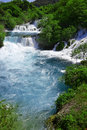 Waterfalls on Krka River, Croatia Stock Photo
