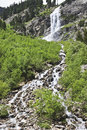 Waterfalls of the lapenkar stream austria ten minutes driving from schlegeis reservoir in schlegeisgrund in austrian tyrol water Stock Image