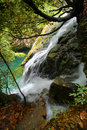 Waterfalls in Mount Huangshan Stock Images