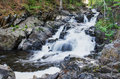 Waterfalls on a mountain river Royalty Free Stock Photo