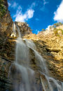 Waterfalls in mountains. Royalty Free Stock Images