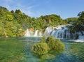 Waterfalls in national park Krka Royalty Free Stock Photo