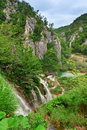 Waterfalls at national park. Plitvice, Croatia Stock Photography