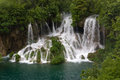 Waterfalls in national park of plitvice croatia Stock Images