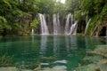 Waterfalls in Plitvice lake Royalty Free Stock Photo
