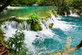Waterfalls in Plitvice Lakes National Park Royalty Free Stock Photo