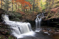 Waterfalls at Ricketts Glen Royalty Free Stock Images