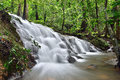 Waterfalls in thailand waterfall deep forest phangnga Royalty Free Stock Photos