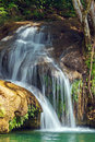 Waterfalls in topes de collantes cuba pond and Stock Photo