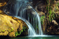 Waterfalls in topes de collantes cuba pond and Stock Photos
