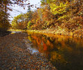 Waterford trout creek autumn colors reflection the of the watershed at new brunswick canada Stock Photography