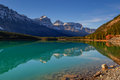 Waterfowl lake scenic on the icefields parkway banff national park Stock Photo